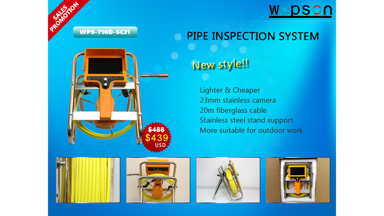 pipe sewer chimney duct drain snake inspection camera
